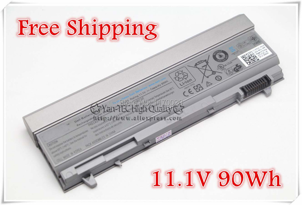 9Cell original  Battery for Dell Latitude E6400 E6410 E6500 E6510 PT434 PT435 PT436 PT437 Free shipping jiazijia x8vwf laptop battery 11 1v 97wh for dell latitude 14 7404 latitude e5404 vcwgn ygv51 453 bbbe x8vwf