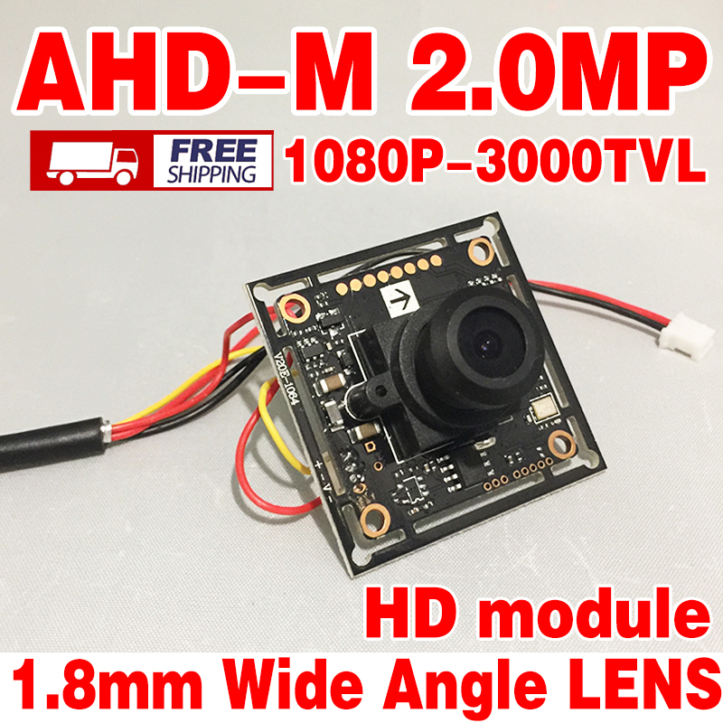 3.28BigSale Free shipping ahd-m 200W 1080p hd motherboard lens module 1.8mm big Wide Angle small home surveillance products hkes 4pcs lot wide angle ahd camera module with 3 7mm lens free shipping