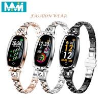 Women Smart Bracelet H8 Fashion Heart Rate Monitor Blood Pressure Smart Band IP67 Waterproof Fitness Activity Tracker Wristband