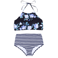 New Sexy High Neck Bikini Women Swimwear Push Up Swimsuit Biquini Beach Wear Switchback Brazilian Bikinis