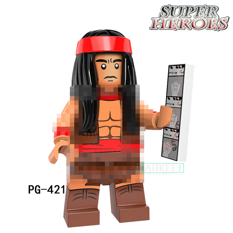 PG421 Single Sale Cute Apache Chief Super Hero Building Block Action Master Batman Figures Fantastic Toy Good Gift PG8110