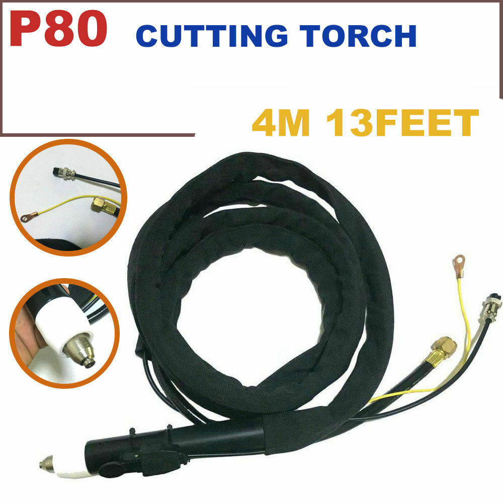 P 80 Air Plasma Cutter 13 feets 4M Cable Cutting Torch Pilot ARC Complete Set