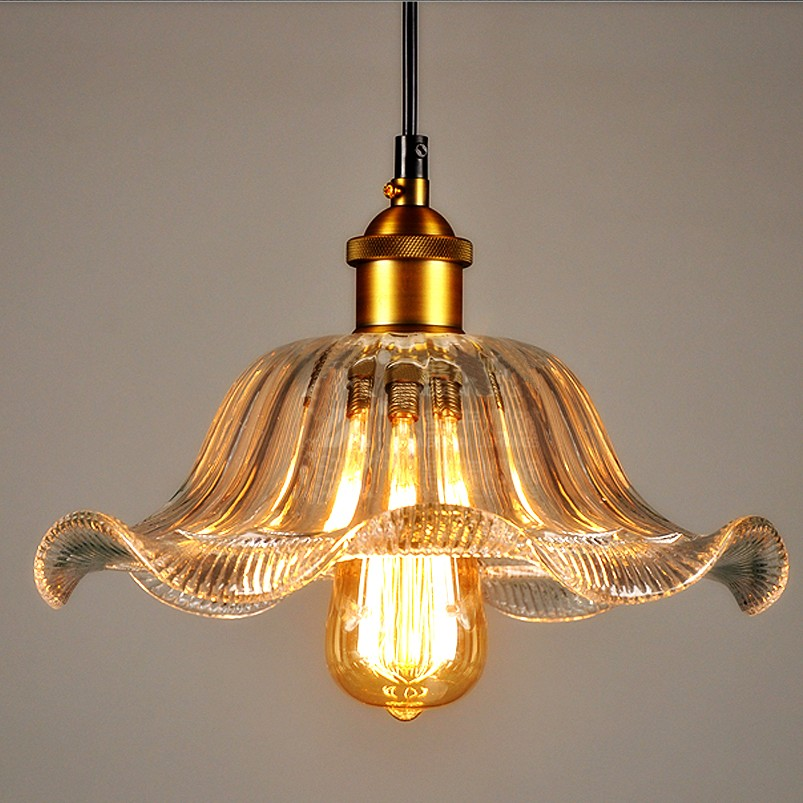 Glass Pendant Light Industrial Lamp Lights Fixtures Hanging Loft Luminaire Suspension Lampshade Vintage Dining Room цена
