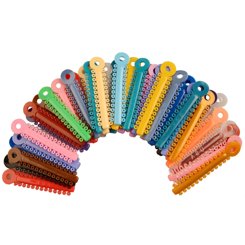 1014 Pcs/bag Dental Oral Orthodontic Multi-Colored Ligature Ties Dentist Tools Rubber Elastic Bands For Brackets 36 Colors
