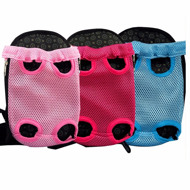 3 Color Pet Four Foot Backpack Dog Carrier Mesh Ventilation Dog Bag Chest Backpack Poodle Out Carry Case Pet Supplies S,M,L