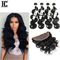 Ms Lula Hair With Closure And Bundles 4Bundle Brazilian Body Wave With Closure 13x4 Ear To Ear Lace Frontal Closure With Bundles