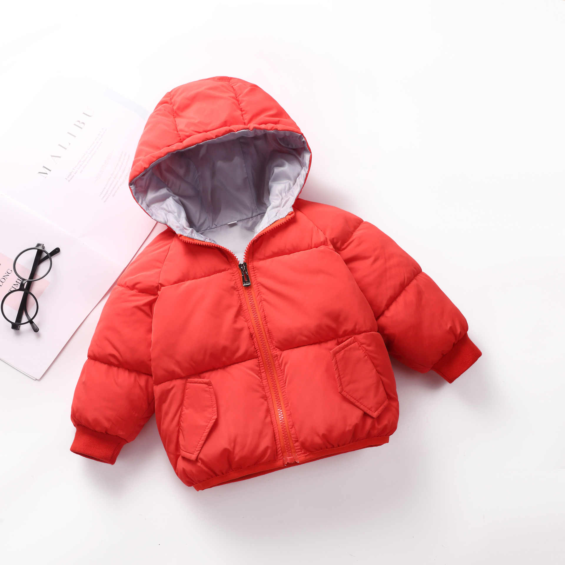 9407ae8fb ... BibiCola winter jacket thick velvet girls boys coat warm children's  jackets cotton infant clothing padded jacket ...