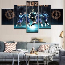 Canvas Printing Framework Top-Rated Modern Type Soccer Player And Emblem Poster Sports Painting Wall Art For Decorative Bedroom