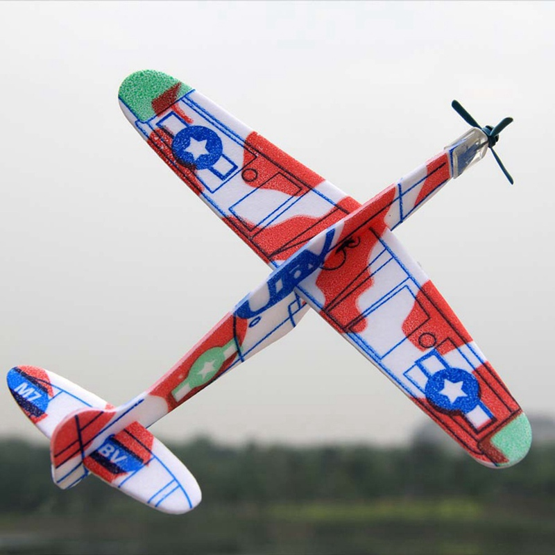 Children DIY Foam Glider Plane Toys For Boys Mini Airplane Aviation Model Kids Aircraft  Random Colors Drop Shipping