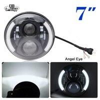 CO LIGHT 7INCH Round CREES LED Headlight H4 Hi Lo Beam For Jeep Wrangler JK Headlamp