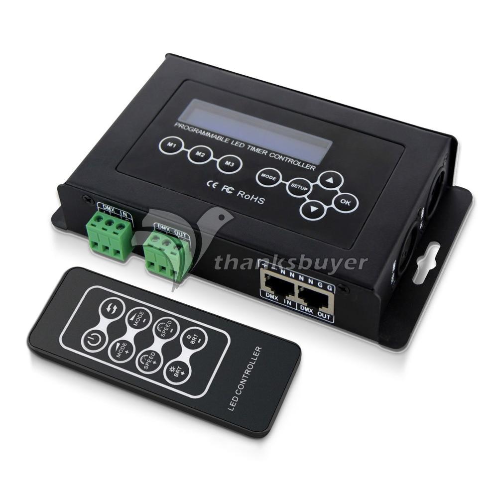 BC-100 DMX512 Light Controller LED Light Strip RGB Control DC9V LCD Display RF Wireless Remote bc 322 dmx timer dimmer dmx controller dc9v aquarium controller