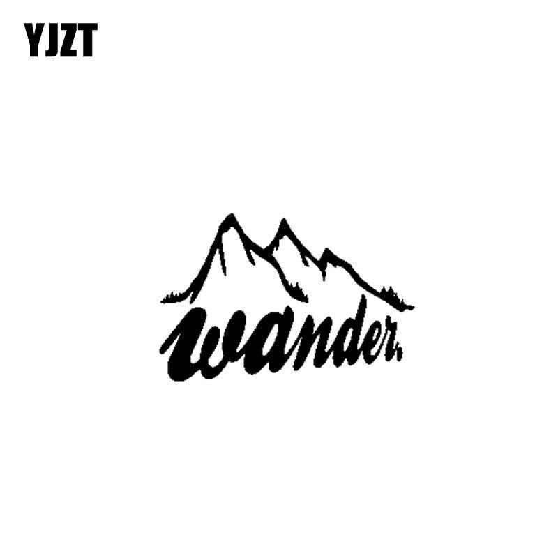YJZT 17.8CM*10.3CM Wander Adventue Vinyl Motorcycle Black Silver Car Sticker Decals C13-000404