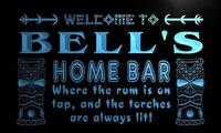X1058 Tm Bell S Home Bar Tiki Custom Personalized Name Neon Sign Wholesale Dropshipping