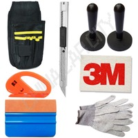 Auto vehicle window film wrap installation tools kit tools bag cutter squeegee art knife magnet holders.jpg 200x200