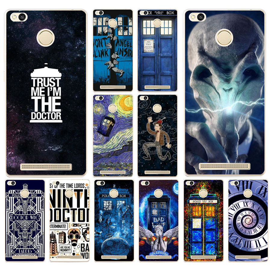 Binful Tardis Box Doctor Who Clear Cover Case Coque For Xiaomi Redmi Mi A1 5x Note 2 3 4x 4 5 4a 5a Plus Cellphones & Telecommunications Phone Bags & Cases