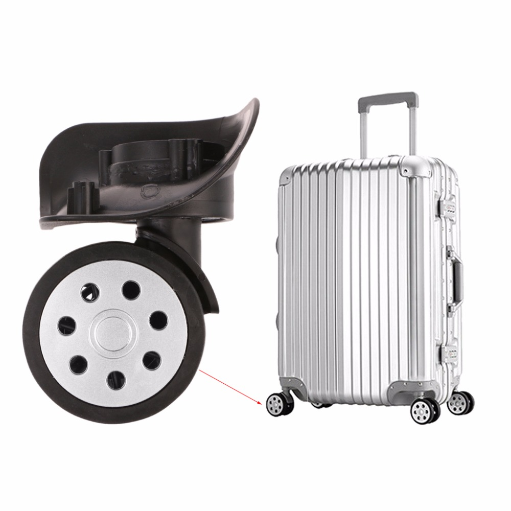 THINKTHENDO 4PCS Luggage 360 Swivel Wheel Replacement Suitcase Caster Repair Replacement Luggage Wheels Accessory