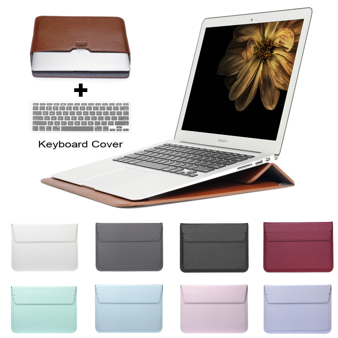 SZEGYCHX Saco De Manga De Couro Saco de Mala Caso Para Macbook Air 13 Pro Retina 11 12 13 15 Tampa Do Laptop Notebook Para Macbook 13.3 polegada