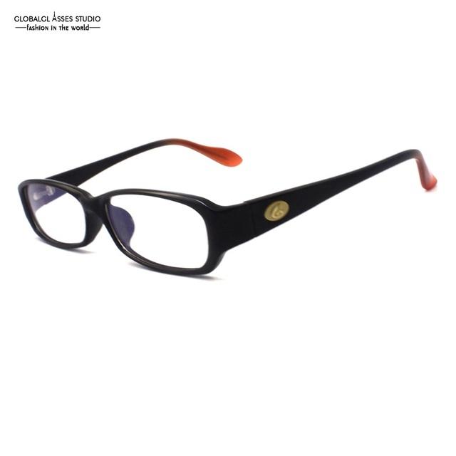 Estilo do esporte dos homens de acetato de óculos moldura preta grande marca orange ponta templo clássico óculos espetáculo prescrição disponíveis a0015