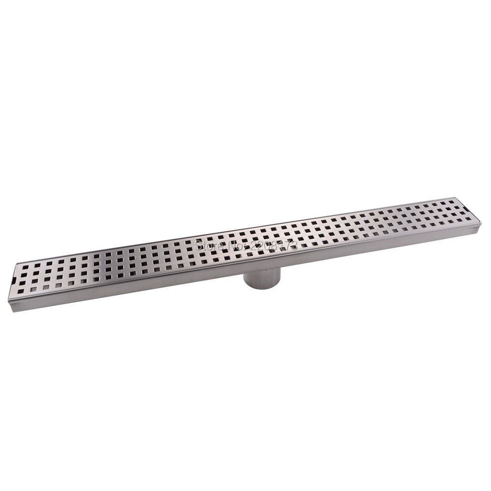 High Quality Bathroom Accessories 24-Inch Linear floor Shower Drain SUS 304 Stainless Steel Rustproof with Cover ,Brushed magnolia 5624 24 inch garage floor broom