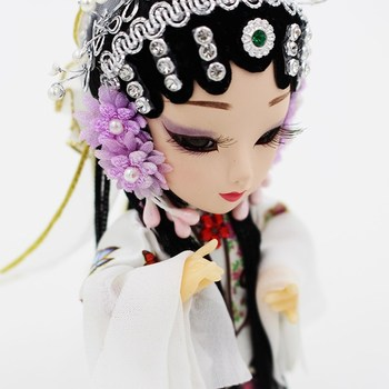 Chinese Beijing Opera Dress Up Doll Kunqu Opera dolls Lifelike doll toys Collectibles Decoration China tourism gift souvenir