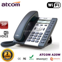 ATCOM A20W 2 SIP WiFi Phone Entry-level business wireless SIP Phone , LDAP,IP Phone WIFI, Desktop sip phone wifi