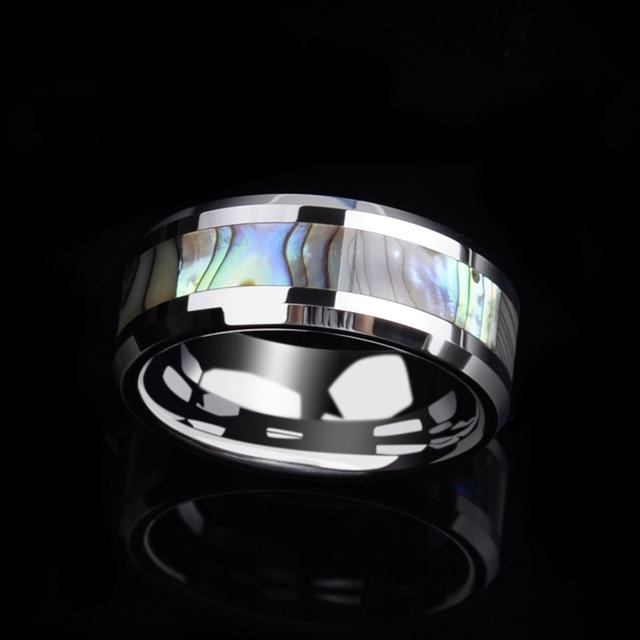 Tungsten Carbide Ring Inlay Deep Sea Shell