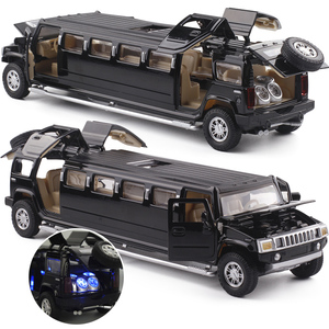Image 2 - high simulation 1:32 alloy limousine metal diecast car model pull back flashing musical kids toy vehicles gifts free shipping