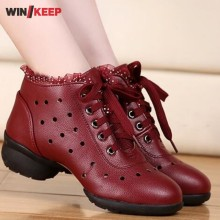 New 2017 Summer Dance Shoes Women Fitness Breathable Jazz Hip Hop Shoes Salsa Sneakers For Women