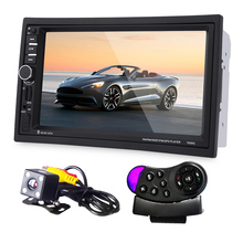 Universal 7″ Car MP5 Player Bluetooth with GPS Navigation Touch Screen + Rear View Camera + Remote Control Car Radio DVD Player