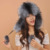2016 Mulheres Inverno Quente Fox Fur Earflaps Chapéus De Couro Para Bolas De Pêlo Feminino Senhoras Cap