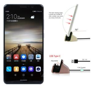 Fast Charging USB Type C Dock Station For Huawei Mate 9 Pro P9 P10 Plus Honor 8 V9 Nova Plus USB C Dock Stand Data