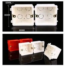 Распределительная коробка для монтажа в стену Стандартный Светильник сенсорный выключатель кассета распределительная коробка огнестойкая проводка задняя коробка настенный переключатель скрытый нижний