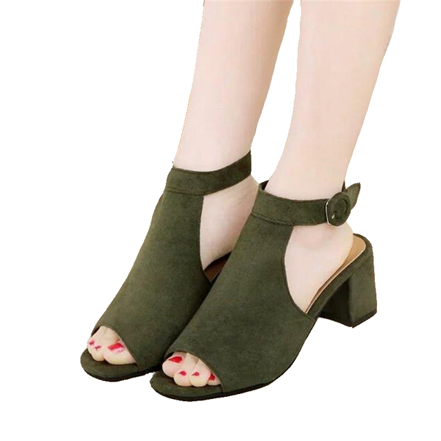 Free shipping Women's shoes 2017 brand OL high-heeled sandals frosted with fish mouth ladies sexy sandals free shipping