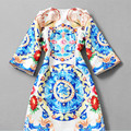 Pop New New Nice Fashion Spring  Winter Cardigans Plus Size Women Clothing Retro Printed Beaded Brand Trench Coat A615