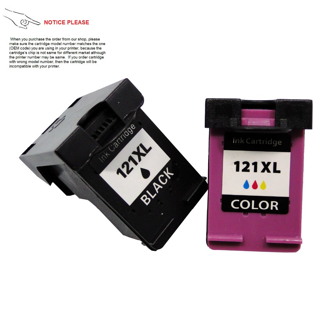 1set Remanufactured ink cartridge for HP121 HP121XL Deskjet F2530 F2545 2560 F2563 F2568 F4240 F4280 F4288 2pcs compatible ink cartridge hp121xl hp121 for deskjet f4210 f4213 f4240 f4272 f4275 f4280 f4283 f4288 f4500 f4580 f4583