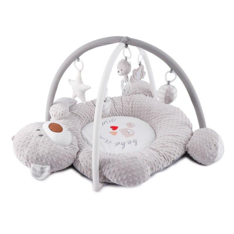 Musique ours bébé couverture tissu Fitness Rack ramper jeu tapis éducatif 0-12 Months1-2Years vieux jouets pour enfants enfants tapis jouets