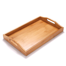 Hot Sale Kung Fu Tea Tray Handmade For Glass Teapot Cups Set Natural Bamboo Wooden Dish Flower Puer Tea Table Service 38*25*5cm