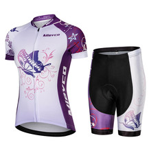 b88e2f449 Women Butterfly MTB Bike Clothing Set Breathable Mountian Bicycle Clothes  Ropa Ciclismo Quick-Dry Cycling