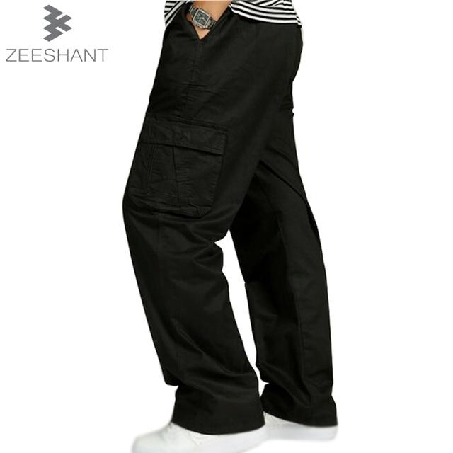 f7ff4e80da5 ZEESHANT Men Plus Size XXXXXXL Baggy Multi-pockets Cargo Pants Army Green  Man New Arrival