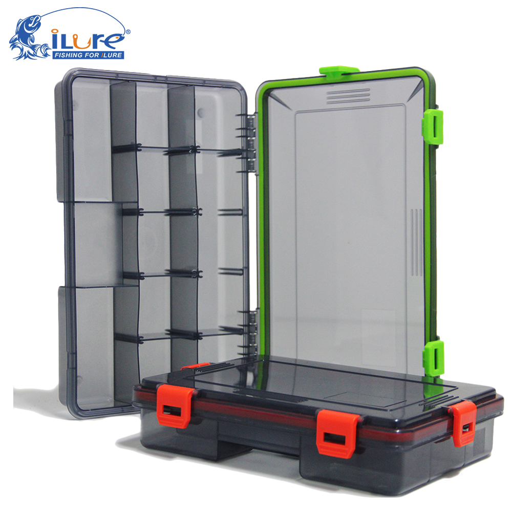 iLure 2017 New Fishing Tackle <font><b>Boxes</b></font> 2 colors Fishing Accessories Case Fish Lure Bait Hooks Tackle Tool with Compartments pesca