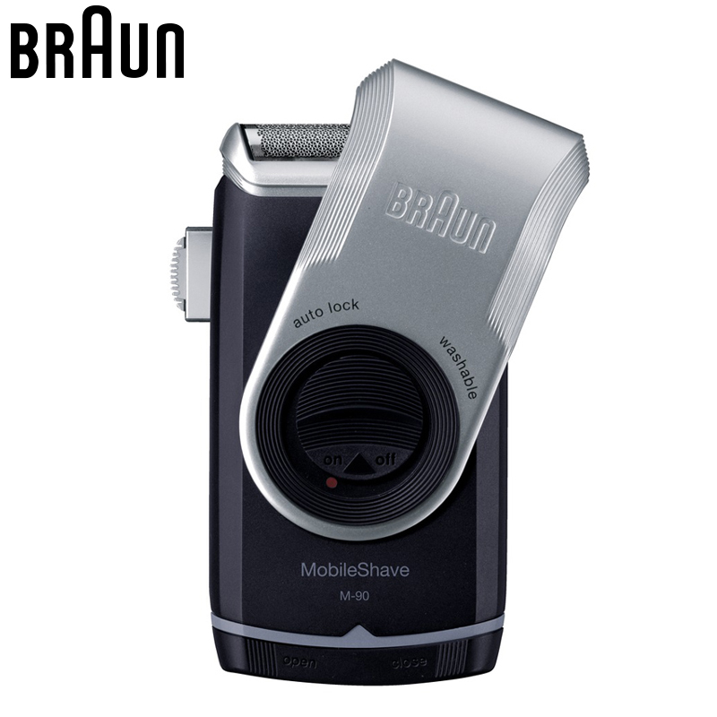 Braun M90 Electric Shavers Mobile shave trimmer Shaver Razor Washable Beard Shaving Machine Dry Battery Portable For Travel braun series 3 electric shaver 3080s electric razor blades shaving machine rechargeable electric shaver for men washable