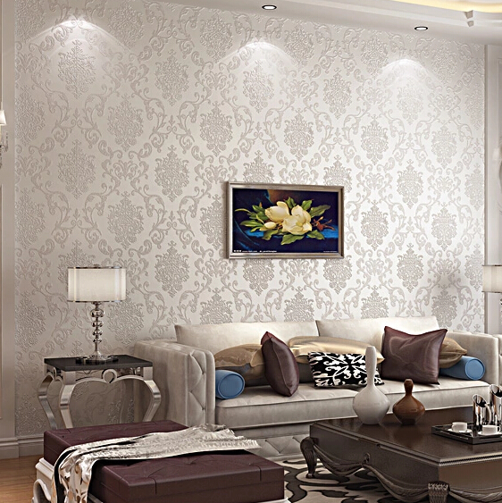 2015 New Cheap Europe Damascus Wallpaper Damask Wall Coverings Embossed Textured Paper For Bedroom Sitting Room Background In Wallpapers From Home