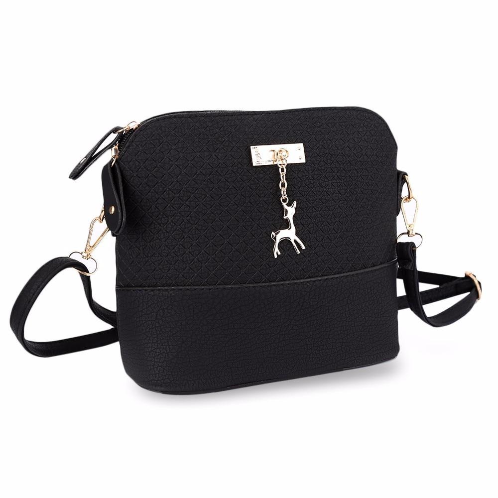 High Quality Women Messenger Bags Leather Mini Bag With Deer Toy Small Shell Shape Shoulder Bags Women Handbag