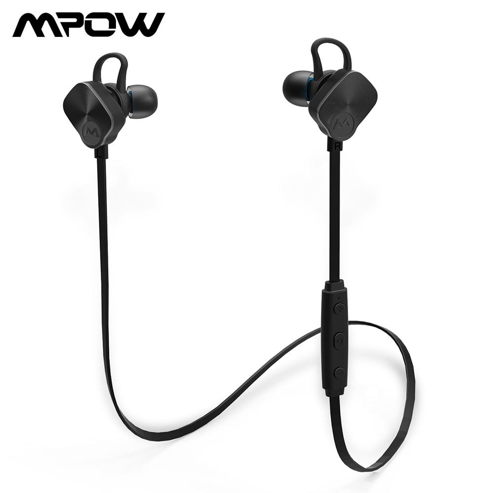 Mpow versión actualizada MBH29 Bluetooth 4.1 Auriculares inalámbricos IPX7 Auriculares deportivos impermeables Auriculares estéreo Cancelación de ruido