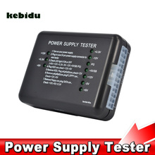 kebidu Computer ATX SATA HDD Power Supply Tester LED Indication 20 24pin PSU Diagnostic Tool testing for Anode Cathode