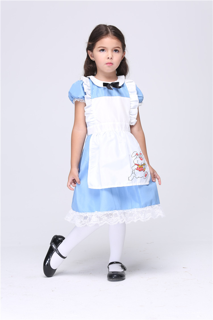 Promotion Little Girl Light Blue Lace Fairy Dress Naughty Kid Alice In Wonderland Cosplay Costume Child Christmas Halloween Play-in Girls Costumes from ...  sc 1 st  AliExpress.com & Promotion Little Girl Light Blue Lace Fairy Dress Naughty Kid Alice ...