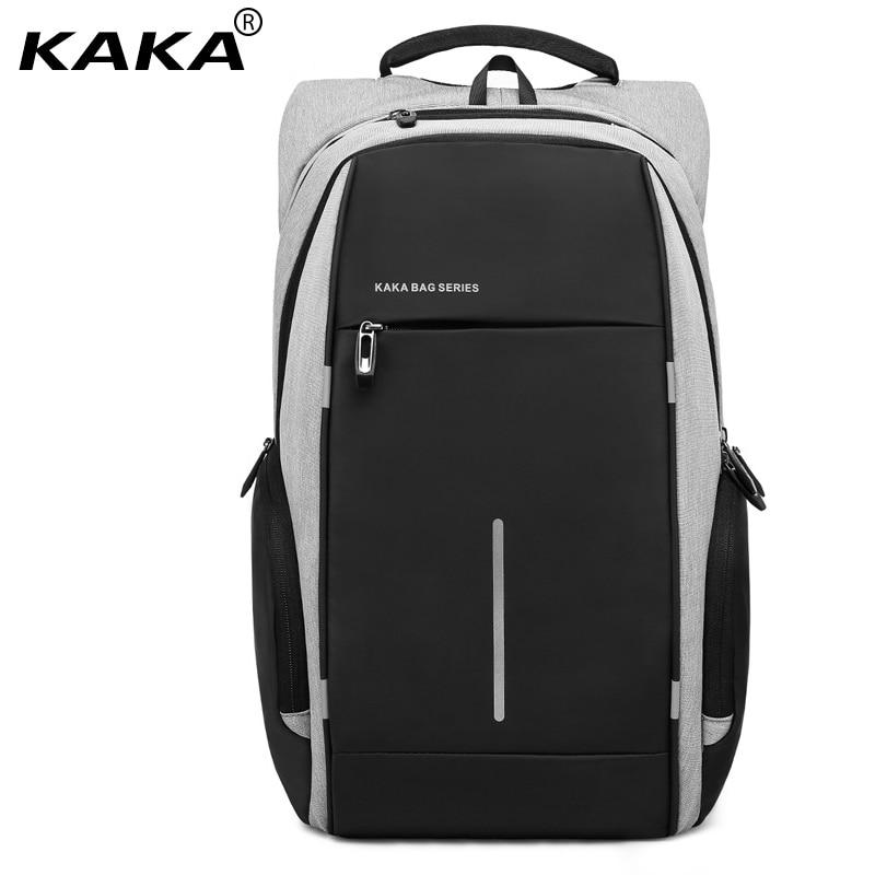 2017 KAKA Brand Korean Design Men School Backpacks Waterproof Women Laptop Backpack Bags for 15.6 laptop and Ipad Boys & Girls 2017 new korean style tuguan brand unisex men 15 6 laptop school backpacks women fashion school bags for teenager boys and girls