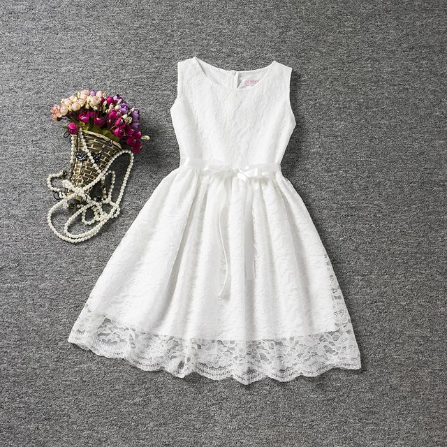 c09b91632402b Élégant dentelle fleur filles robes de mariage bébé fantaisie Festival  carnaval Costume pour enfants vêtements petite