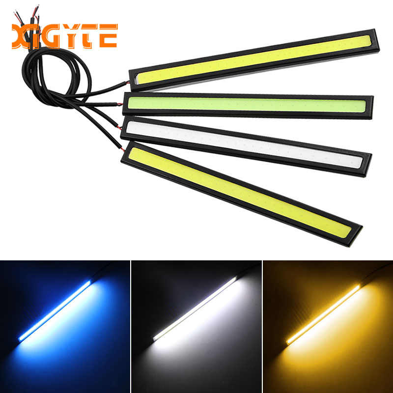1 Piece 17cm Universal COB DRL LED Daytime Running Lights Car Lamp External Lights Auto Waterproof Car Styling Led DRL Lamp