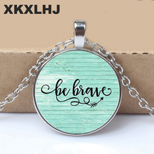 BE BRAVE Charm Necklace, Inspirational charm necklace, gift for her, Cancer survivor, Warrior charm, Be Brave Necklace